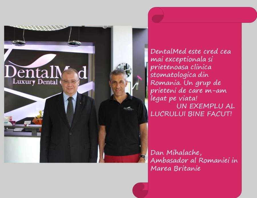 Testimonial Mihalache Dan Romanian Ambassdor in Great Britain